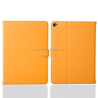 yellow color retro PU case for I pad 6 for ipad air 2 cover for kids