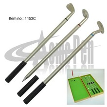 Classic Metal Promotional 3pcs Golf ball pen Office Golf Set