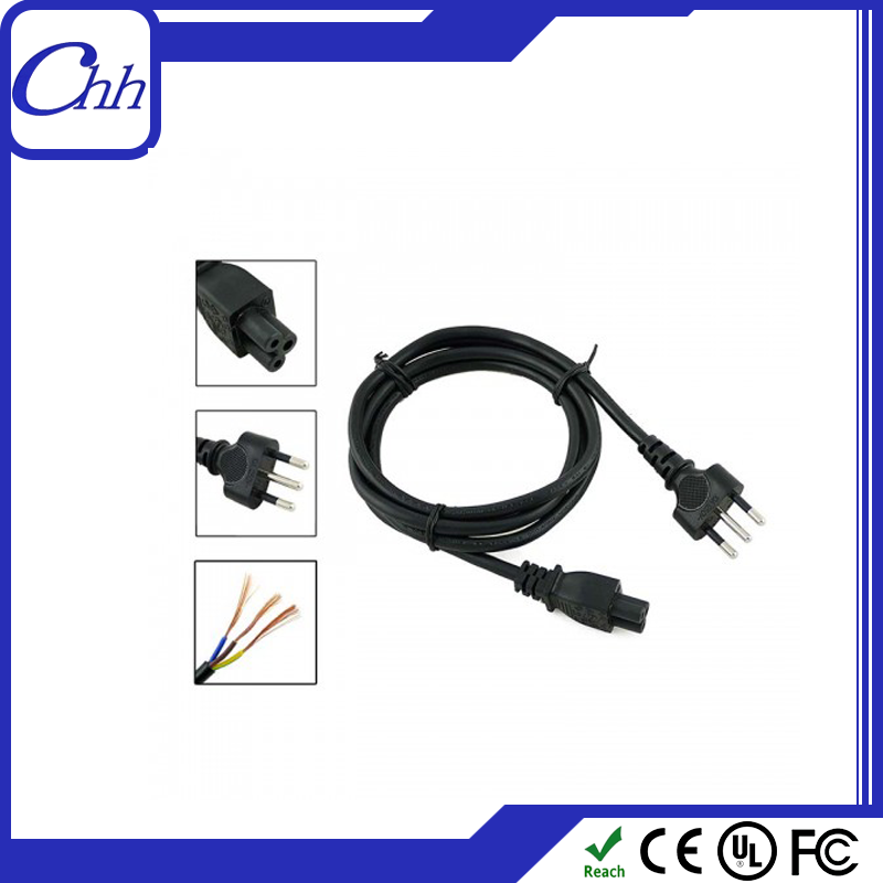 2015 factory supply 1.5m power cable 3 pin imq power cord plug italy 3 round pin power cord to c13