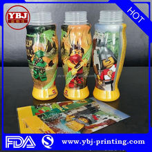 cheapest price of guangzhou manufacture New designed shrink labels for bottles/good price shrink sleeve labels