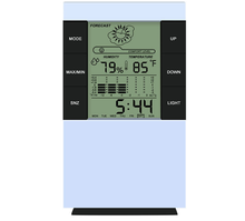 alarm clock ,digital type desk clock with weather station function