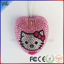 Computer accessory Wired USB Cute Beautiful Gift rhinestone minnie heart mouse motif