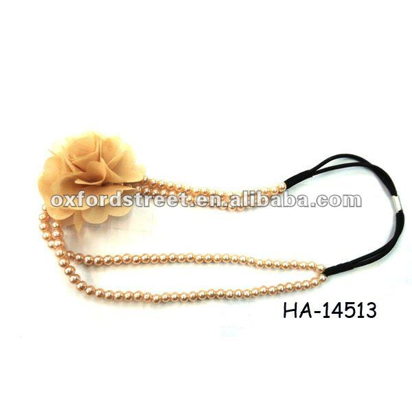2012 fashion flower headwrap with pearls hair top accesory HA-14513