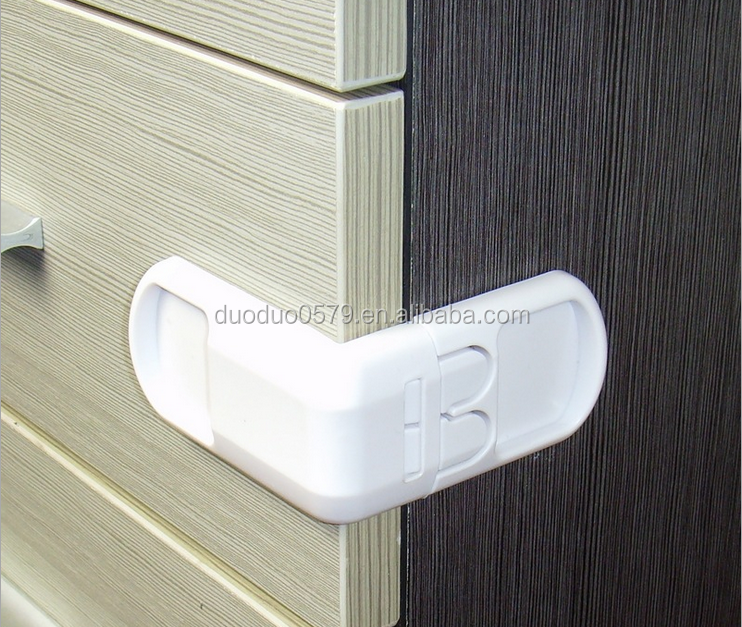 M034 child wholesale adhesive lock baby safety drawer locks door angle lock