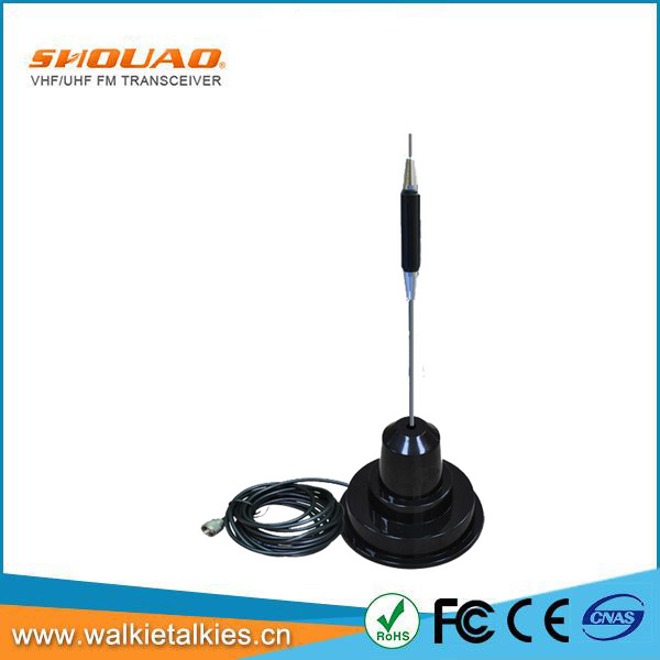 UHF male connector mobile 27MHz 5.5dBi wireless antenna 20km