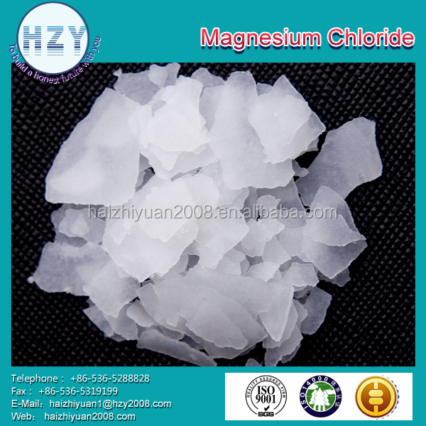 China manufacturing supplier 46% magnesium chloride price flakes
