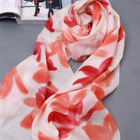 2016 inner mongolia factory wholesale winter worsted 80s mercerized wool shawl ladies flower printing wool scarves