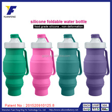 Liquid silicon rubber collapsible water bottle