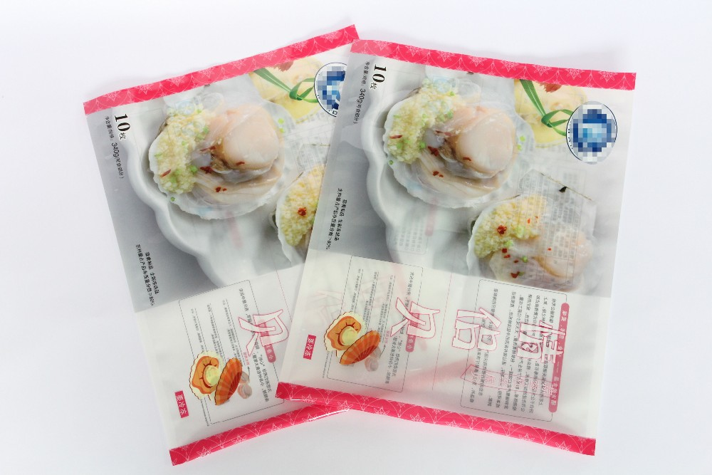 Freezing Food Safe Grade Plastic hot sale resealable zip lock pouch with resealable zipper