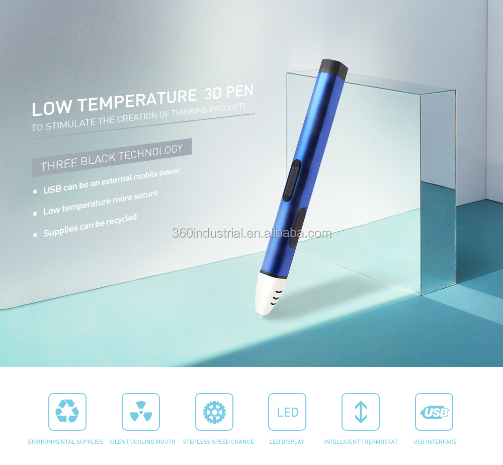 2018 Hot Selling Lowest Price 3d pen 3d printing pen with LCD Screen  3d pen drawing  with Free Filaments
