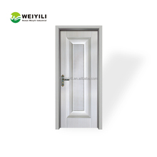 Super top quality hot sale good price malaysia glass balcony pvc swing toilet door