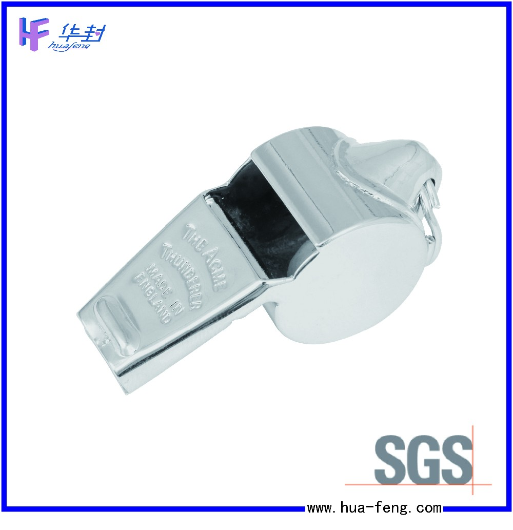 Good quality Aluminum alloy custom football sports whistle metal