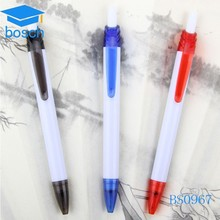 Bussiness ideas plastic pen push ball pen with logo cheap promotional pen