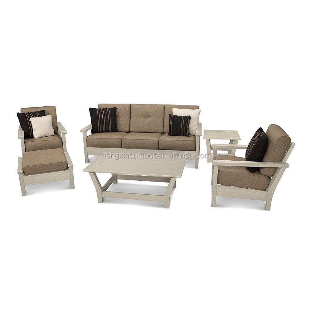 Hengxin polywood патио дворе удобные подушки разговор диваном