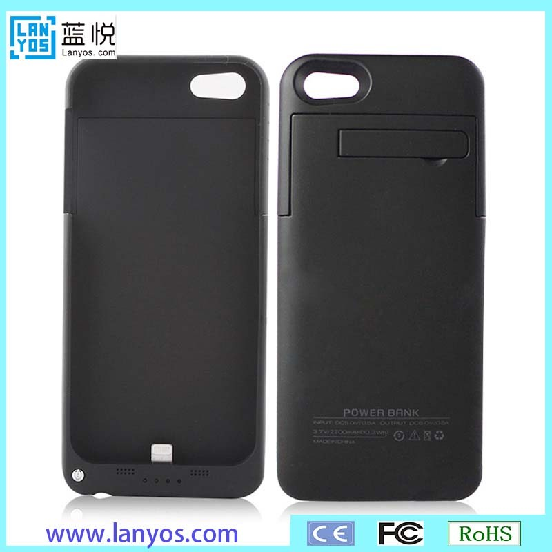 For Iphone 5 5s Charger Case Rechargeable Battery Case Back Up External Battery Backup Charger Case Pack Power Bank