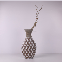Modern style gray geometric, living room soft home decorations, pottery flower vase ornaments crafts