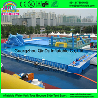 PVC Inflatable Aquatic Parks China Supply Mobile Water Amusement Park