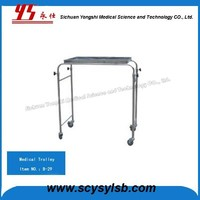 Cheap Stainless Steel Hospital Surgery Mayo Instrument Tray Table Trolley