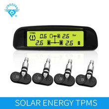 Newest Wireless Solar energy TPMS alarm tire pressure monitoring system for internal sensors