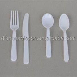 PS Disposable plastic hard cutlery set, Plastic Spoons and Forks
