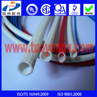 Electrical Silicone Insulation Fiberglass Sleeve
