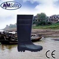 NMSAFETY black pvc rain boots