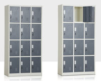Wholesale Clothes and shoes storage locker cabinet steel 12 doors wardrobe cabinet 12 door wardrobe for kids