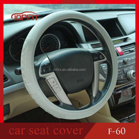 Grey Color Simple but Fashion Design New Material Universal Genuine Leather Pattern PVC Toyota Corolla Car Steering Wheel Covers