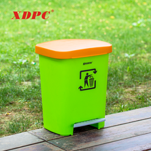 Modern design strong plastic recycle trash can advertising dustbin container with cover for hotel