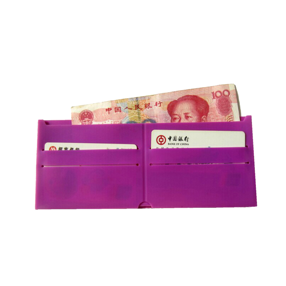 Card Holder Silicone Fold Wallet Case