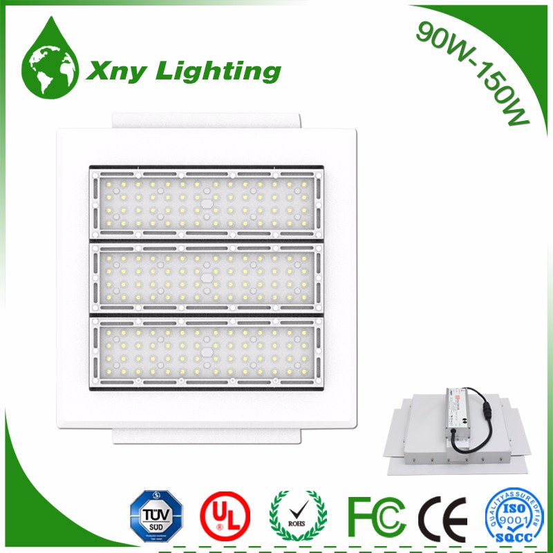 Newest design 150w high quality embedded gas station led canopy lights fixture