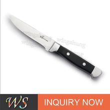 "WS SSK15 10"" Stainless Steel Steak Knife with Pom Handle"