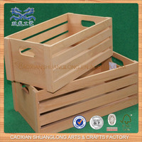 New Design Cheap Wholesale Unfinished Wooden Fruit Crates For Sale