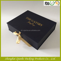 black leather bag gift box packing for woman