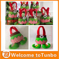 2015 Christmas Decoration elf Gift treat bag candy bag for xmas