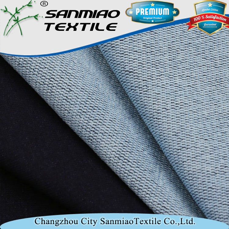New designs simple design cotton polyester blended denim fabric accept OEM