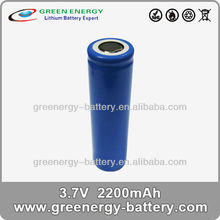1 x 18650 battery 2200mah 18650 batteries made in china