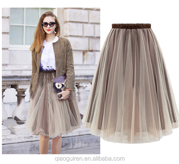 Organza fashionable gauze skirt skirts