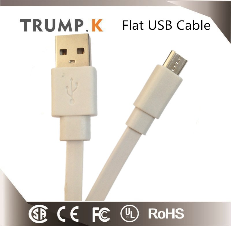 Universal Flat Micro USB Data Cable 5V 2A Quick Charge Cable