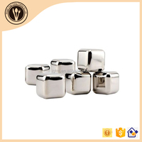 New Stainless Steel Party Beer Wine Whiskey Ice Stones Ice Cubes Whiskey Ice Rocks Cooler /Set Wine Stones