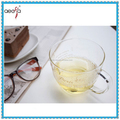 Hot Sale clear pyrex printed drinking glass cups with handle factory