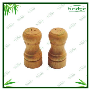 New style bamboo salt and pepper shaker