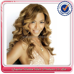 Hot-selling the same with Beyonce mix color long brazilian hair virgin hair full lace wig for black woman