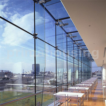 point fixing structural glass curtain walls for waiting room