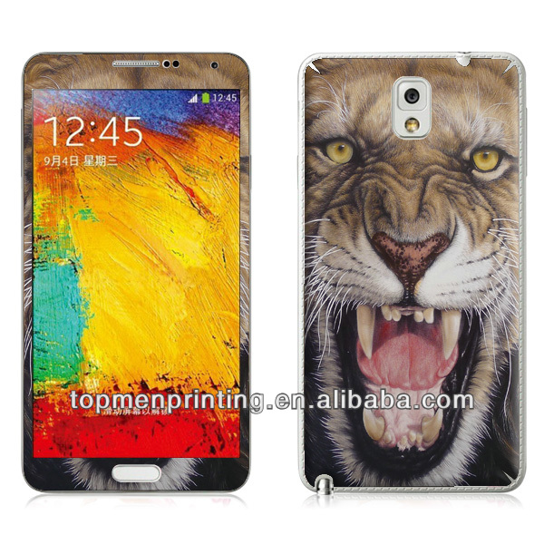 Mobile phone epoxy for samsung galaxy note 3 skin sticker