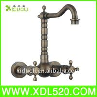 WENZHOU XIDUOLI Wall Mounted Cross Dual Handle Copper Kitchen Tap