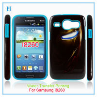 New Arrival 2 in 1 design for 2014 Water transfer Printing PC/silicone case cover for samsung galaxy core i8260 i8262