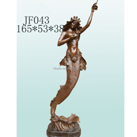 Bronze life size mermaid statue