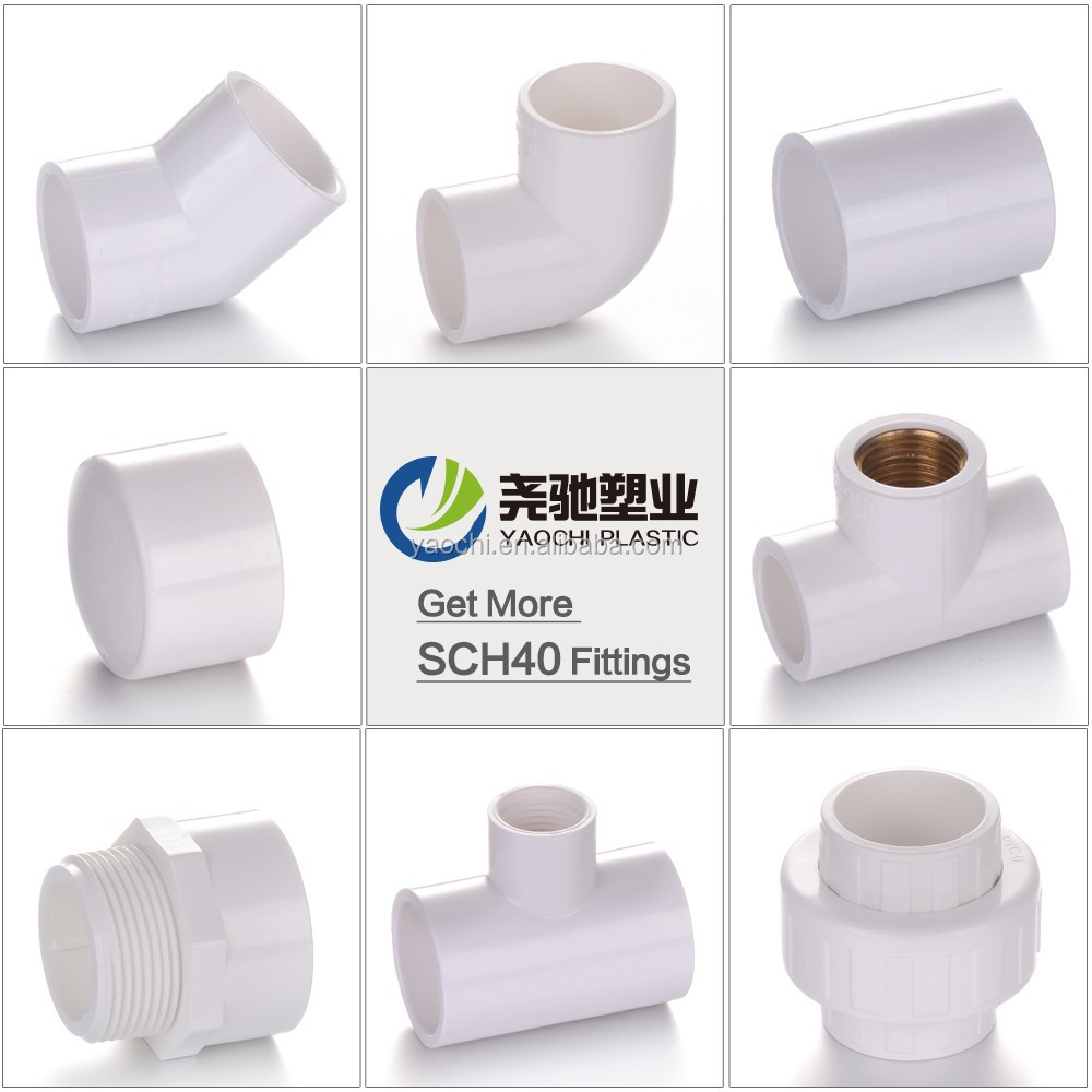 ASTM Sch40 Manufacturer PVC Pipe Fittings UPVC Plumbing pp compression Materials farm irrigation pipe fittings