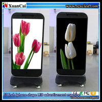 55 inch Indoor/Outdoor P5 Iphone shape led display/ advertising machine